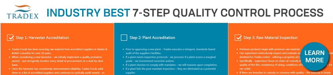 Tradex Foods 7-Step Quality Control Process