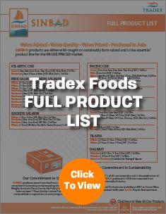 Tradex Foods Full Product List