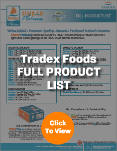Tradex Foods Full Product List
