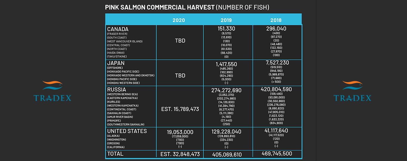 Global Pink Salmon Harvest